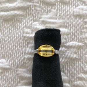Jewelry - Yellow Citrine Sterling Silver Ring